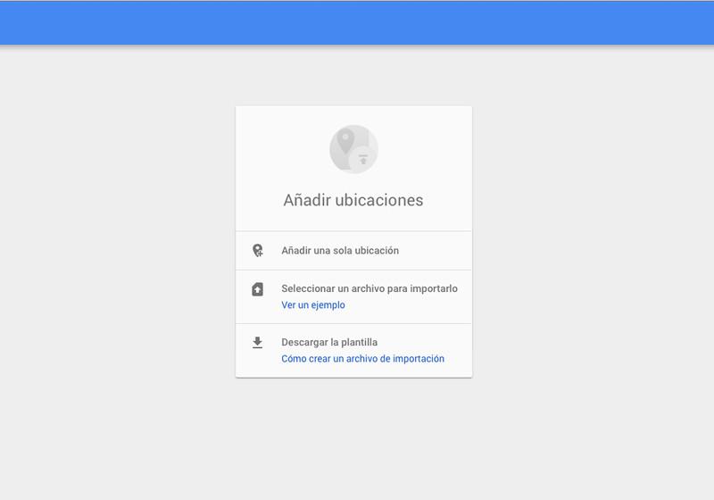 Google + ubicación
