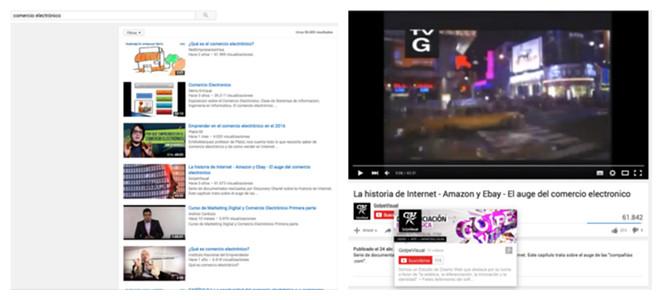 Búsqueda en youtube